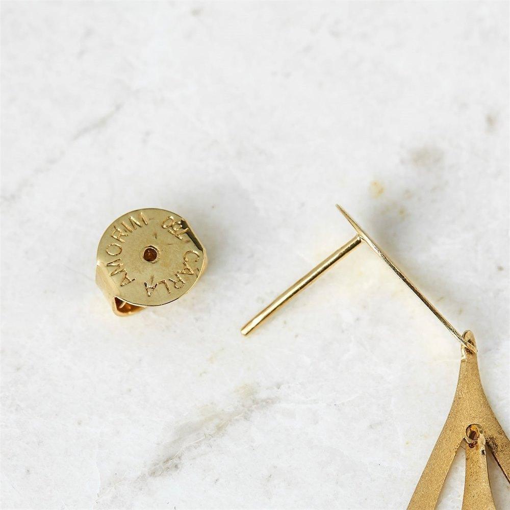 Carla Amorim 18k Yellow Gold Teardrop Design Earrings