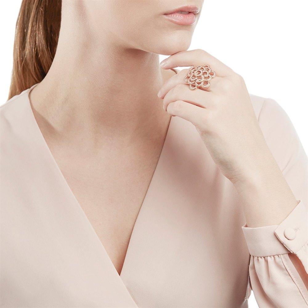 Carla Amorim 18k Rose Gold 0.73ct Pavé Diamond Ring