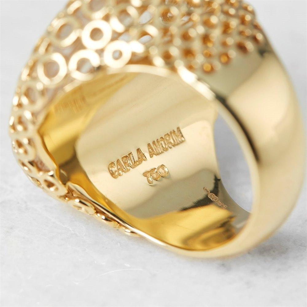 Carla Amorim 18k Yellow Gold Cabochon Clear Crystal Quartz Ring