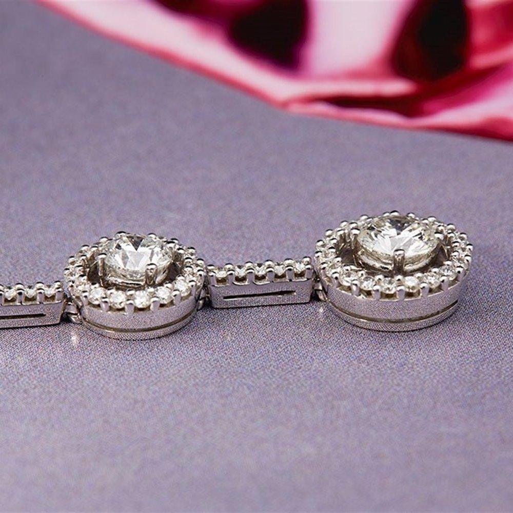 Picchiotti 18k White Gold 2.42ct Diamond Drop Necklace