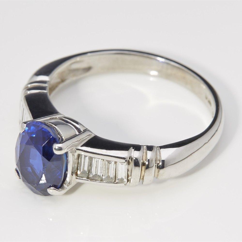 Mappin & Webb 18k White Gold 2.20cts Kashmir Sapphire & Diamond Ring