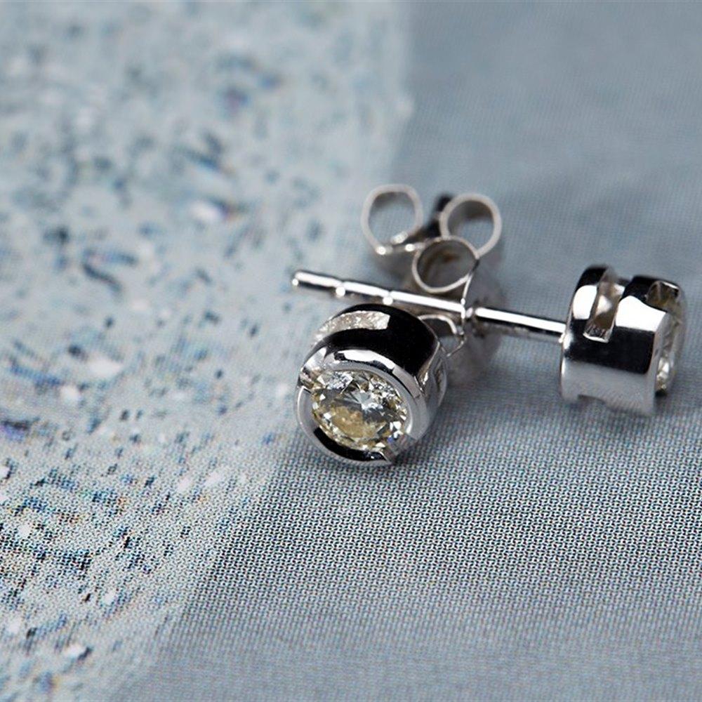 18k White Gold 0.40cts Diamond Stud Earrings