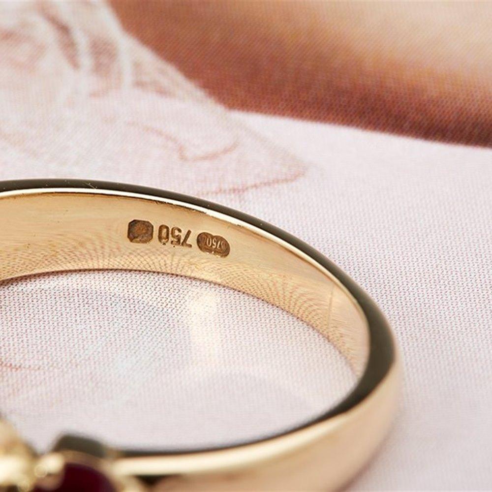 Kutchinsky 18K Yellow Gold 1.00cts Ruby and Diamond Half Eternity Ring