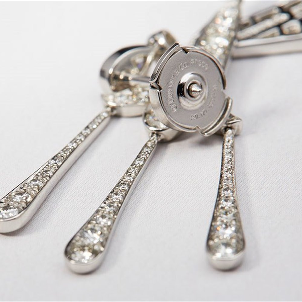 Tiffany & Co. Platinum 1.70ct Diamond Legacy Chandelier Earrings